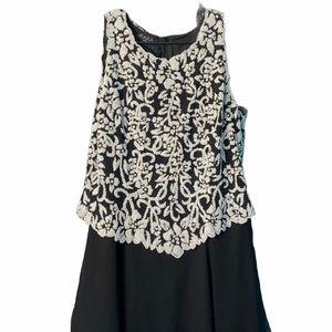 J Kara Mother-of-Bride Black Dress, size 16